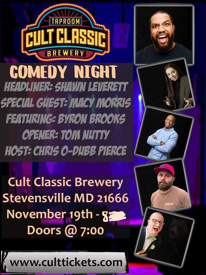 Cult Comedy Night 11/19 2021-11-19 19:00:00
